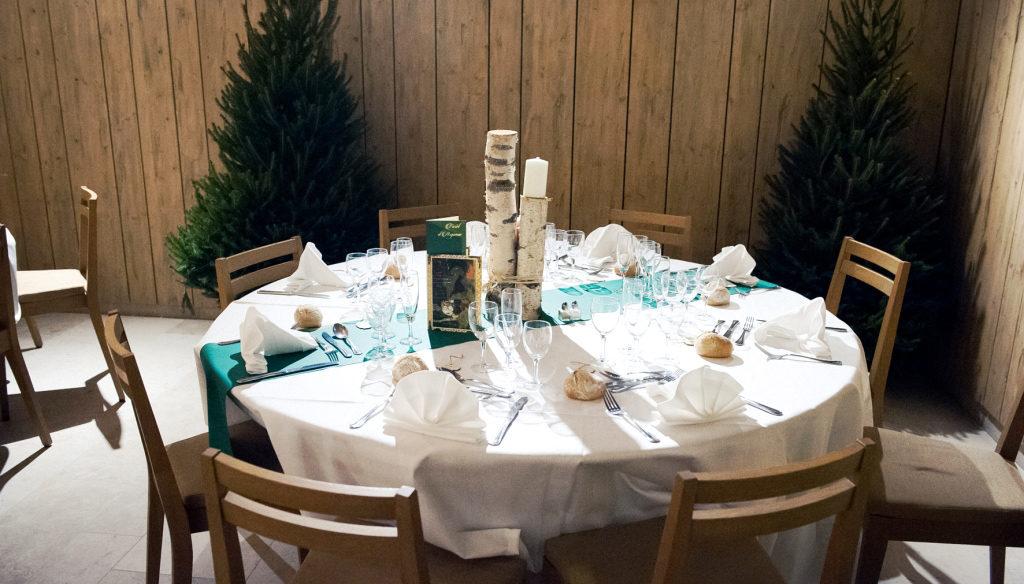Mariage en hiver, décoration de table - Château des Broyers - Beaujolais & Bourgogne